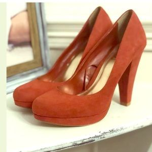 Red Herring High Heel Shoes Size 9 Burnt Orange